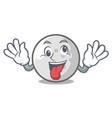 crazy golf ball mascot cartoon vector image
