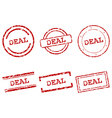 Deal stamps vector image