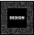 design word cloud tag cloud concept collage vector image vector image