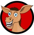 Donkey head cartoon vector image vector image
