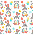 Easter bunny easter pattern seamless easter