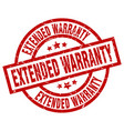 extended warranty round red grunge stamp vector image vector image