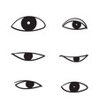 eye icon symbol vision linear pictogramhand vector image vector image