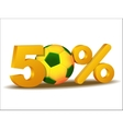 Fifty percent discount icon