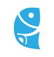 fish symbol icon on white vector image vector image