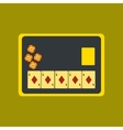flat icon on stylish background board card chip vector image