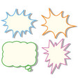 Four colorful speech bubble templates vector image