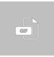 GIF computer symbol vector image