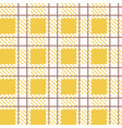 gingham retro checkered tile pattern for textile vector image