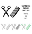 hairdresser icon in cartoon style isolated on vector image vector image
