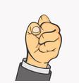 hand businessman make fist gesture vector image vector image