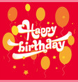 happy birthday logo vector image vector image