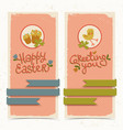 happy easter banners vector image