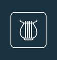 harp outline symbol premium quality isolated vector image