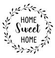 home sweet vector image vector image
