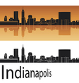 Indianapolis skyline in orange background vector image vector image
