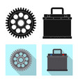 isolated object of auto and part symbol vector image vector image