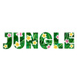 jungle logo to print t-shirts palm leaves and exo vector image