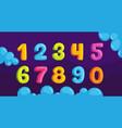 kids numbers vector image vector image