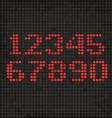 LED Display Scoreboard Dot Grunge Digits vector image vector image