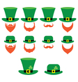 Leprechaun character for St Patricks Day vector image