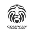 lion head red color logo vector image vector image