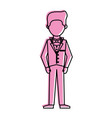 man in suit icon image vector image vector image
