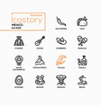 mexico - modern line design style icons set vector image