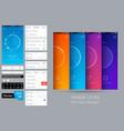 mobile ui kit vector image vector image