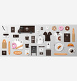 mockup set for bakery shop cafe restaurant brand vector image vector image
