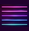 modern neon iridescent glowing lines banner on vector image