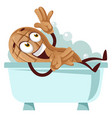 peanut taking a bath on white background vector image