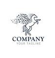 Pegasus horse tech logo design template