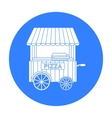 Pizza cart icon in black style isolated on white vector image vector image