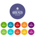 pizza delivery icons set color vector image vector image
