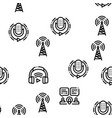 podcast and radio seamless pattern vector image