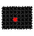 puzzle jigsaw one different concept symbol icon vector image