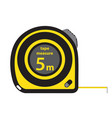 roulette construction tool yellow measure tape in vector image vector image