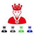 sad overlord boss icon vector image vector image
