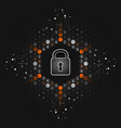 safety concept global security closed padlock vector image