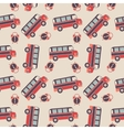 seamless pattern buses and alarms vector image