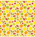 seamless pattern of colorful autumn leaves vector image vector image