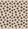 seamless pattern with dirty dog or wolf paw vector image