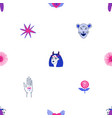 seamless pattern with funky zodiac symbols vector image