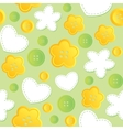 seamless pattern with sewing buttons vector image vector image