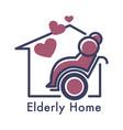 senior people care nursing or elderly home vector image