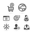 SEO and Advertising icons set 2 vector image vector image