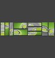 set field hockey banners vector image vector image