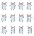 set flat mouse icons vector image