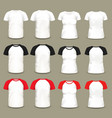 set of isolated raglan t-shirts and shirts vector image